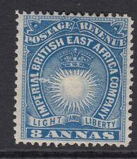 British East Africa Q.V. 1890 8a Blue . SG12 - mounted mint