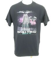 Devils Tower T Shirt Mens Size Large Black Graphic Tee Area 18 Port & Company