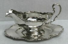 "GORHAM STERLING SILVER GRAVY BOAT WITH 8"" UNDER TRAY #801"