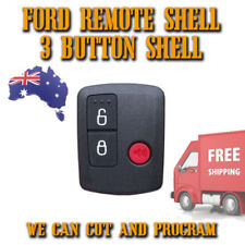 Ford 3 Button Remote Shell - FREE POSTAGE - Aus Seller - Easy To Fit! - New