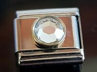 April Birthstone Italian Charm Link Bracelet Charms Link Charm