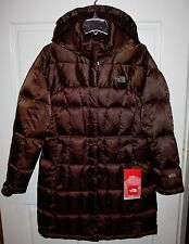 NWT Girls The North Face Metropolis Brown Parka Coat Size Large