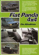 FIAT PANDA 4x4 Youngtimer allradkiste prospetto brochure Sheet 80er anni/17