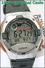 Casio W-753-3av Moon Tide Graph Watch 10 Year Battery 4 Alarms 100m WR