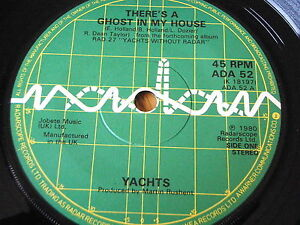"YACHTS - THERE'S A GHOST IN MY HOUSE  7"" VINYL EP"