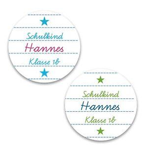 personalisierte Aufkleber zur Einschulung - Sticker zum Schulanfang -1. Schultag