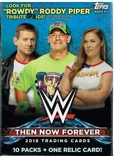 2018 Topps WWE Then Now Forever Trading Cards New Sealed 71ct. Relic Blaster Box