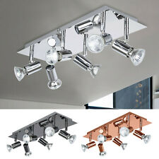 6 Way LED Ceiling Lights Adjustable Spotlight Kitchen Downlight Spot Bar Lamp