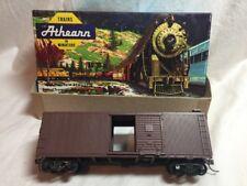 Ho Scale Athearn 40 Ft Brown Box Car G M & O Freight Railroad Train Car