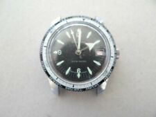 Vintage Lucerne World Time Diver Watch With Date