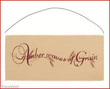 """""""Amber Waves of Grain"""" Rustic Decorative Wood Sign Free Shipping"""