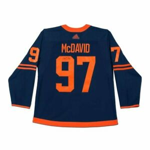 Connor McDavid Signed Autographed Authentic Jersey Oilers Alternate UDA
