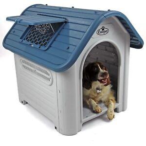 Plastic Dog Kennel Pet House Weatherproof Indoor Outdoor Animal Shelter Easipet