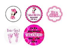 108 Disney Baby girl Minnie Mouse Shower Hershey Kiss Labels Sticker Personalize