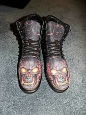 """Men's size 9M """"skull"""" motorcycle boots"""