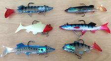 Bass maquereau & Pollack 6 pêche en mer plastique souple NATATION Amorce leurre