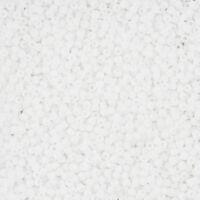 Toho Round Size 11/0 Matte Opaque Rainbow White Seed Beads 8.2g (L28/4)