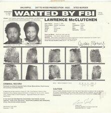 FBI WANTED POSTER LAWRENCE McCLUTCHEN-UNLAWFUL FLIGHT-AGGRAVATED MURDER 8-23-94