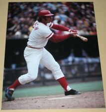 Johnny Bench Cincinnati Reds unsigned color photo action 8x10 MLB