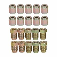 """10mm x 1mm Male and Female Steel Brake Pipe Fittings for 3/16"""" Pipe 20 Pack"""