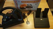 Retro Mad Catz Analog Steering Wheel & Pedals Playstation