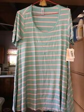 LuLaRoe XXS Perfect T  Mint With Pink Stripes Stretchy! NWT.