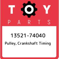 13521-74040 Toyota Pulley, crankshaft timing 1352174040, New Genuine OEM Part