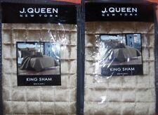 J Queen Velvet Quilted King Shams (2) Glacier Gold 20 x 36
