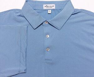 PETER MILLAR Summer Comfort Polo Shirt Blue Striped XL
