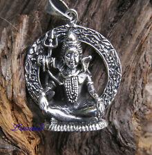 Silber-Anhänger - 925  Shiva – indischer Gott der Ekstase Amulett am Band