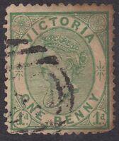 Australia - Victoria - QV 1d Green - Used  (B4E)