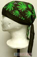 MARIJUANA HIGH CANNABIS CHRONIC KUSH POT HEMP WEED DOO RAG DOORAG HEAD WRAP HAT