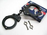 Smith & Wesson S&W 350101 Chain Link Model 100 Blued Black Handcuffs + Keys