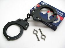 Smith & Wesson S&W 350101 Chain Link Model 100 Blued Black Handcuffs + Keys