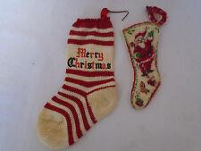 2 Vintage Christmas Stockings