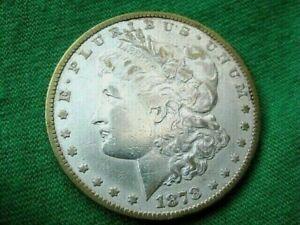 1878 S MORGAN RARE LONG NOCK MICRO S VAM 27 TONING/1102