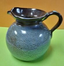 Hand Thrown Art Pottery Pinched Heart Shaped Bowl Condiment Relish Blue Drip Pottery & China Studio/ Handcrafted Pottery