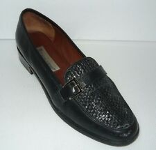 Etienne Aigner Black Leather Loafers Size 9