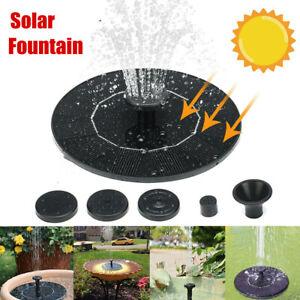 Solar Pump Powered Floating Water Fountain Birdbath Home Garden Small Pond Decor