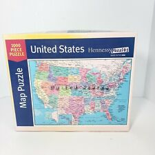 """Hennessy Puzzles United States Map Puzzle 1000 Pieces 2016 19.25"""" × 26.75"""""""