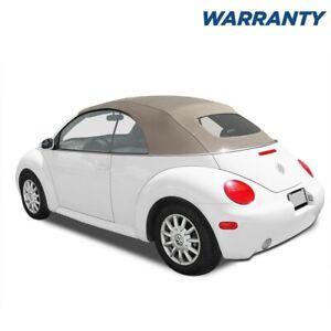 VW Volkswagen New Beetle 2003-2010 Convertible Top TAN Stayfast MANUAL Top