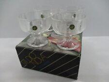 Set of 4 Vtg. Studio Nova Ice Castles Footed Sherbert Bowls Dishes Dessert Cups