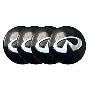 56mm Center Caps Rim Wheel Sticker Decal For BLACK FX35 G35 G37 M35 M37 Q50 Q40
