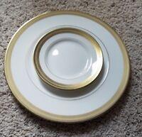 "Wedgwood GOLDEN TIARA 10 3/4"" Dinner Plates (2) & 6"" Bread Plates (2)  NEW!!"