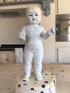 Vintage Frozen Charlotte Doll,14 inch ceramic Boy Doll.Toy China Doll.