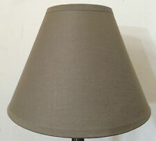 "BRAND NEW 9"" COTTON COOLIE PENDANT OR TABLE LAMPSHADE IN MOCHA COLOUR"