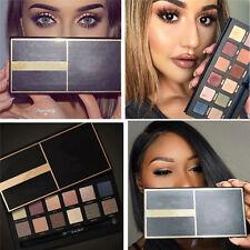 12 Colors Warm Natural Eye Shadow Makeup Cosmetic Master Eyeshadow Palette Brush