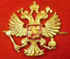 RUSSIAN MILITARY COCKADE OFFICER REAL ORIGINAL Uniform Metall Double Eagle