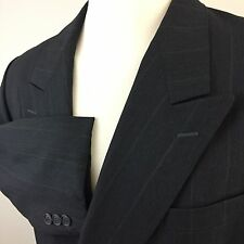 Yves Saint Laurent Double Breasted Gray Pinstriped Sport Coat Men's Short 42S