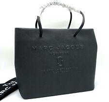 NWT Marc Jacobs Logo Shopper East West Black Saffiano Leather Tote Shoulder Bag